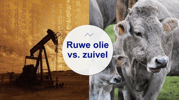 De relatie tussen ruwe olie en zuivel